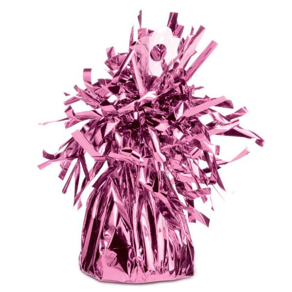 Rózsaszín fólia lufi nehezék