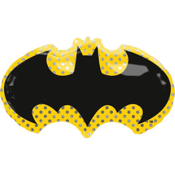 Sárga-fekete batman héliumos lufi