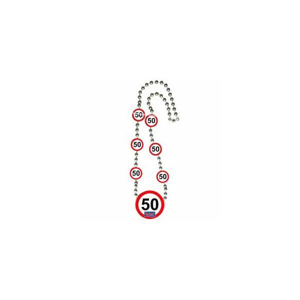 Sebességkorlátozó 50. szülinapi nyaklánc
