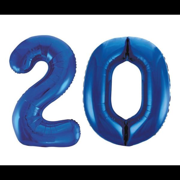 Sötétkék 20 szám héliumos lufi