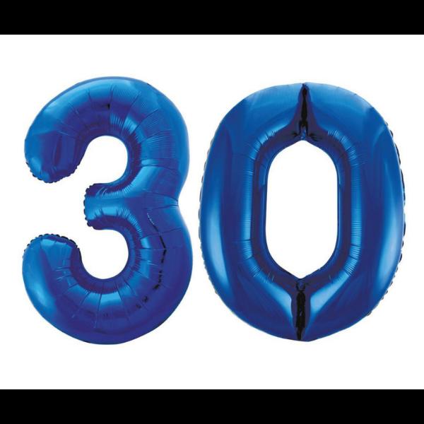 Sötétkék 30 szám héliumos lufi