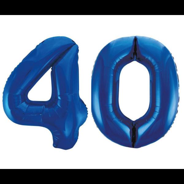 Sötétkék 40 szám héliumos lufi