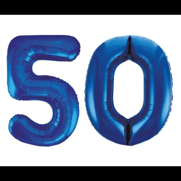 Sötétkék 50 szám héliumos lufi