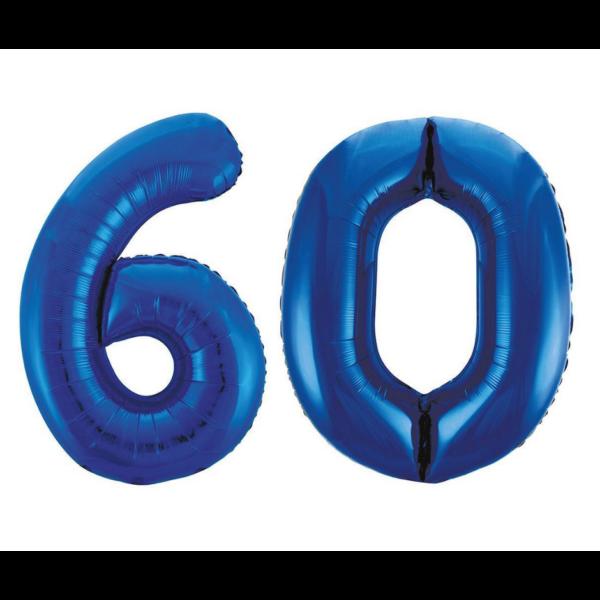 Sötétkék 60 szám héliumos lufi