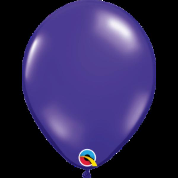 Sötétlila áttetsző héliumos lufi