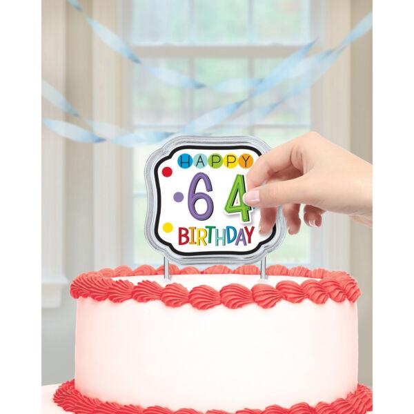 Számozható szülinapi tortadísz