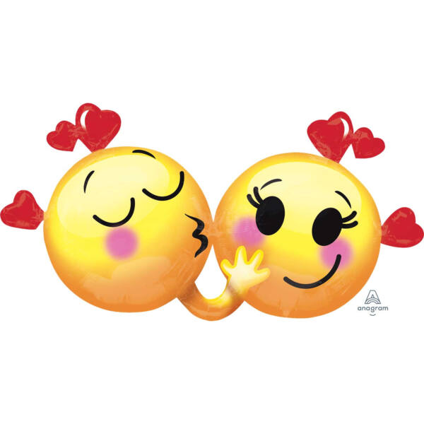 Szerelmes emoji pár héliumos lufi