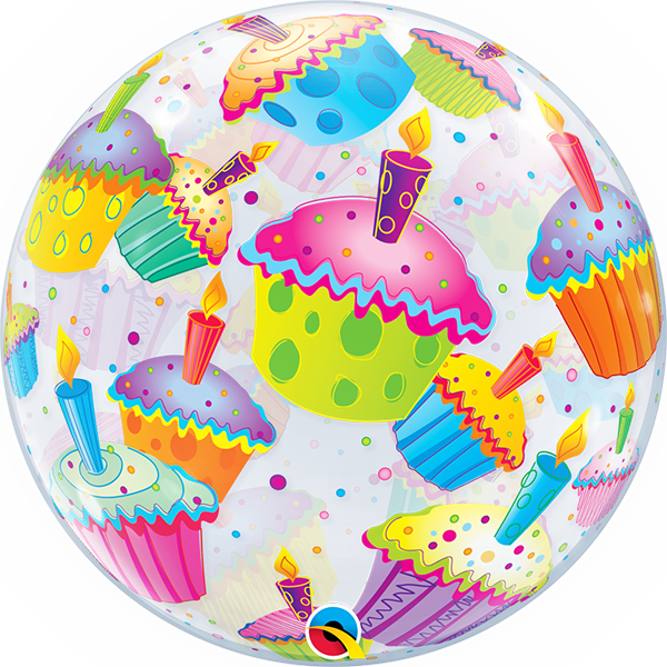 Muffinos héliumos bubble lufi
