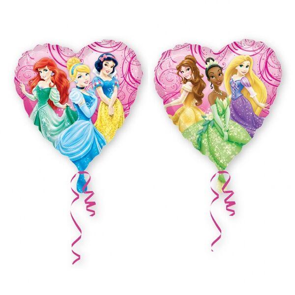 Szív hercegnős héliumos lufi