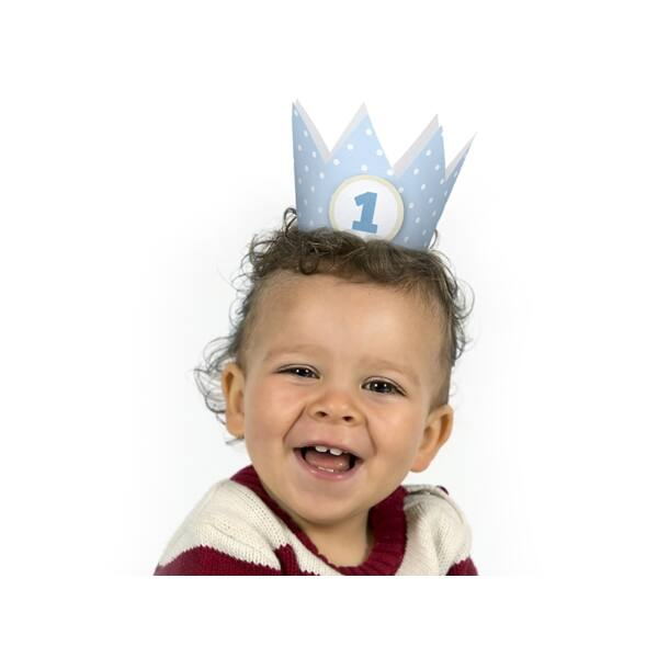 Kék első szülinapi korona