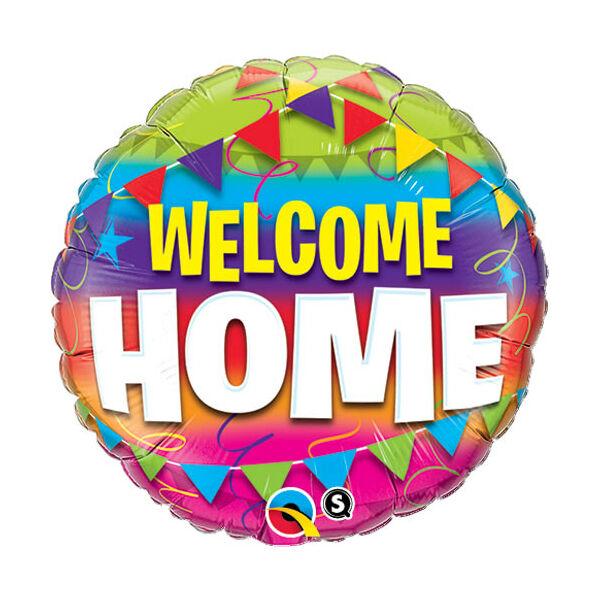 Zászlós welcome home héliumos lufi