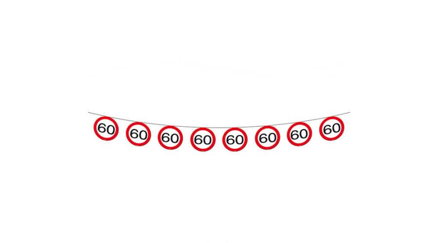 05a6f6188f 60. szülinapi sebességkorlátozó tábla füzér