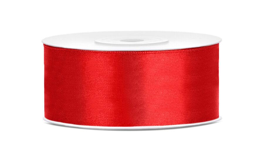 Piros szatén szalag 25 mm f970b5e81d