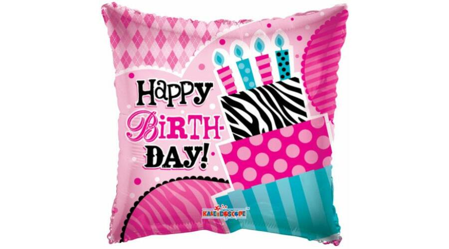 csajos szülinapi ajándékok Pink csajos tortás szülinapi héliumos lufi, Nicol Party Kellék Bolt csajos szülinapi ajándékok