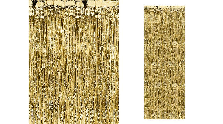 Arany függöny ajtódekoráció 866c8f646d